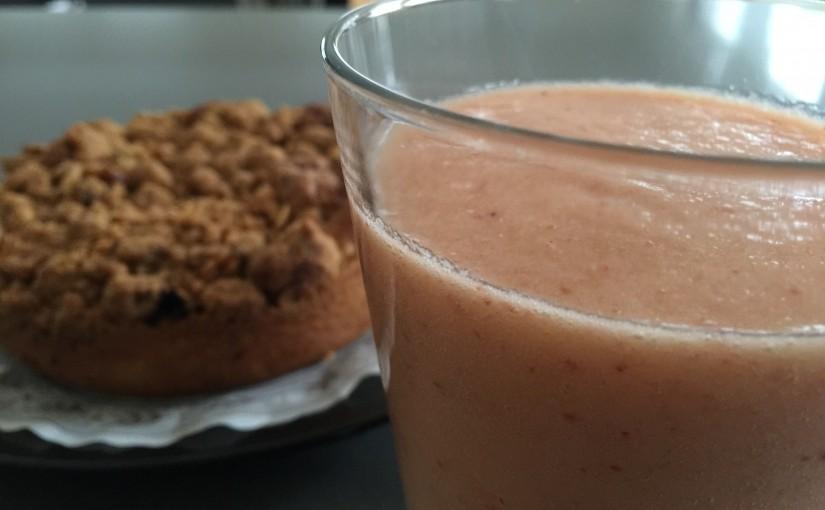 Uskyldig jordbær-banan smoothie
