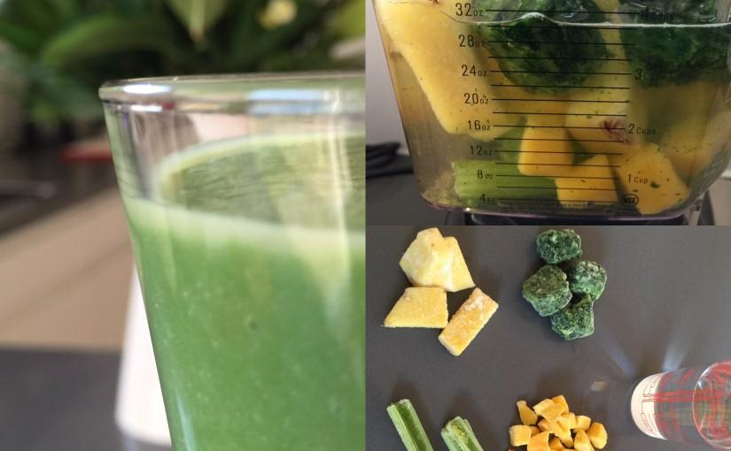 Mango-bladselleri smoothie med ingefær