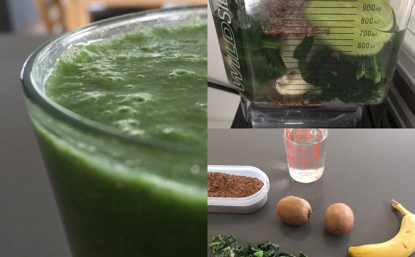 Kiwi-spinat smoothie med lime