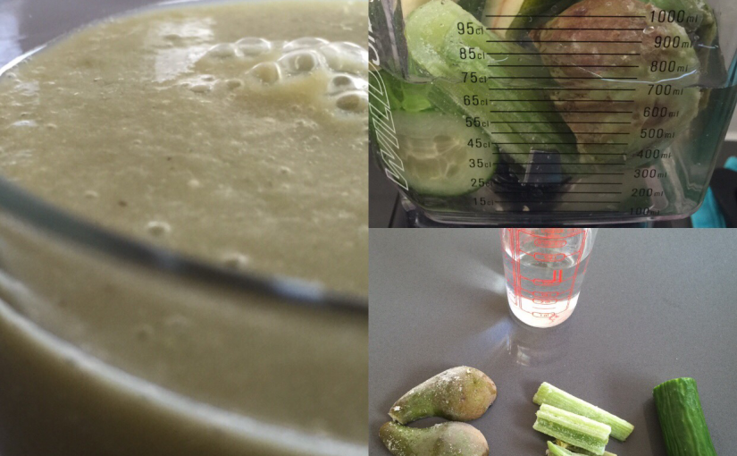 Pære-agurk smoothie med citron